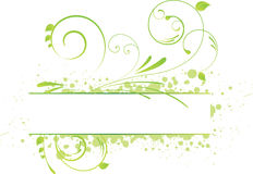 Bandeira floral de Grunge Imagem de Stock
