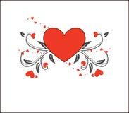 Bandeira floral do coração do amor Fotos de Stock Royalty Free