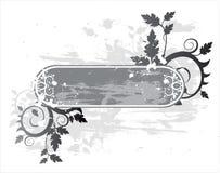 Bandeira floral do grunge ilustração do vetor