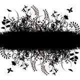 Bandeira floral do vetor de Grunge ilustração stock
