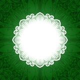 Bandeira floral do vintage verde Grama do vetor Fotos de Stock Royalty Free