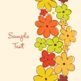 Bandeira floral vertical. O projeto do vintage pode ser usado ilustração royalty free