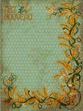 Bandeira floral Wheaten no estilo do art nouveau Imagens de Stock