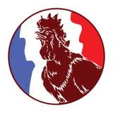 Bandeira França do galo ilustração do vetor