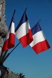A bandeira francesa Fotos de Stock Royalty Free
