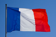 Bandeira francesa Fotografia de Stock