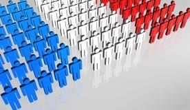 Bandeira francesa 3D dos povos Fotografia de Stock