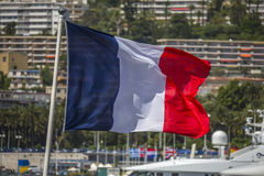 Bandeira francesa - agradável - sul de France foto de stock