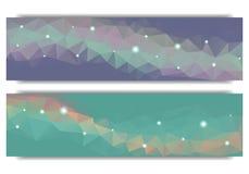Bandeira geométrica abstrata poligonal da Web Foto de Stock Royalty Free