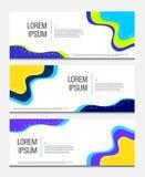 Bandeira geométrica colorida O líquido dá forma à composição Molde moderno do vetor Eps 10 ilustração royalty free
