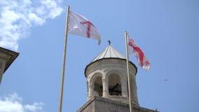 Bandeira Georgian no céu video estoque