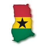 Bandeira Ghana do vetor Imagens de Stock Royalty Free