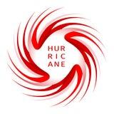 Bandeira gráfica do aviso do furacão ilustração do vetor