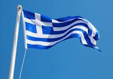 Bandeira grega Fotografia de Stock Royalty Free