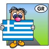A bandeira grega Imagens de Stock Royalty Free