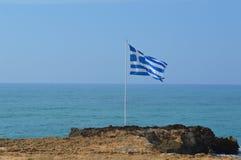 Bandeira grega Imagens de Stock Royalty Free