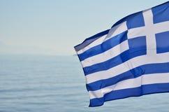 Bandeira grega Foto de Stock Royalty Free