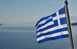 Bandeira grega Imagem de Stock