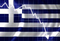 Bandeira grega Imagens de Stock