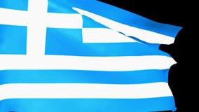 A bandeira grega está acenando - vídeo da rendição 3D