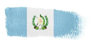 Bandeira Guatemala do Brushstroke Imagem de Stock