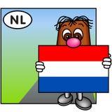 A bandeira holandesa Fotografia de Stock Royalty Free