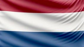 Bandeira holandesa bonita realística 4k ilustração do vetor