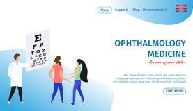 Bandeira horizontal da medicina da oftalmologia oculist ilustração royalty free