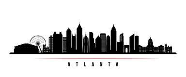Bandeira horizontal da skyline da cidade de Atlanta ilustração royalty free