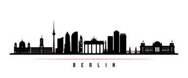 Bandeira horizontal da skyline da cidade de Berlim ilustração stock