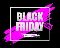 Bandeira horizontal da venda de Black Friday Fotografia de Stock Royalty Free