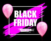 Bandeira horizontal da venda de Black Friday Imagens de Stock Royalty Free