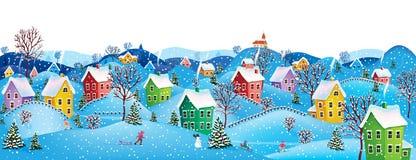 Bandeira horizontal do inverno Imagens de Stock