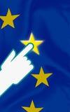 Bandeira iluminada ilustração stock