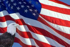 Bandeira inclinada dos E.U. Imagem de Stock Royalty Free
