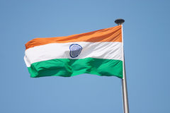 Bandeira indiana Fotografia de Stock