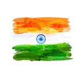Bandeira indiana da aquarela Imagem de Stock