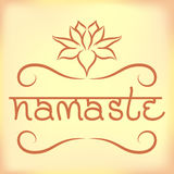 Bandeira indiana Namaste do cumprimento Imagens de Stock Royalty Free
