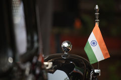 Bandeira indiana no carro Imagem de Stock Royalty Free