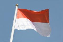 Bandeira indonésia imagens de stock