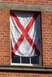 Bandeira inglesa na faculdade da trindade, Dublin, Irlanda, 2015 imagens de stock royalty free