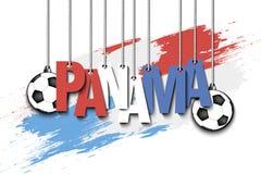 Bandeira a inscrição Panamá Imagem de Stock Royalty Free