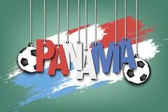 Bandeira a inscrição Panamá Fotos de Stock Royalty Free
