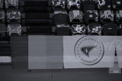 Bandeira internacional da federação de Jiu-Jitsu imagens de stock royalty free