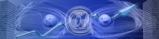 Bandeira: Internet de WW e sucesso de negócio Fotos de Stock