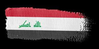 Bandeira Iraque do Brushstroke ilustração do vetor
