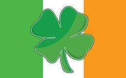 Bandeira irlandesa do trevo da folha Fotografia de Stock Royalty Free