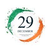 Bandeira irlandesa na forma de um círculo 29 de dezembro - dia da constituição na Irlanda ilustração stock