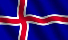 Bandeira islandêsa Imagem de Stock Royalty Free