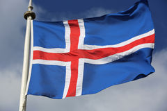 Bandeira islandêsa Foto de Stock Royalty Free